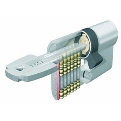 Cilindro Seguridad 40X50Mm T6554050N Niquel Leva larga Tesa