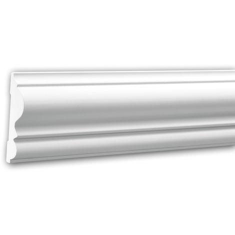 Cimaise 151303 Profhome Moulure décorative style Néo-Classicisme blanc 2 m