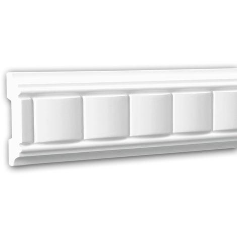 Cimaise 151309 Profhome Moulure décorative design intemporel classique blanc 2 m
