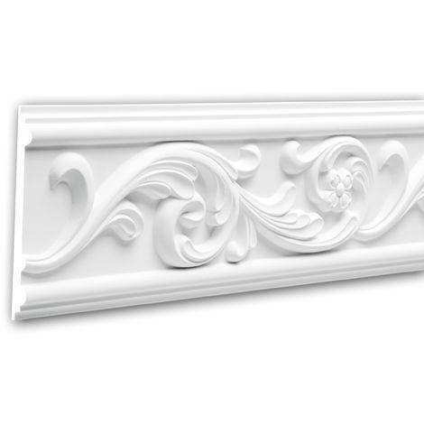 Cimaise 151325 Profhome Moulure décorative style Rococo-Baroque blanc 2 m