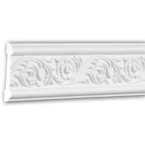 Cimaise 151337 Profhome Moulure décorative style Rococo-Baroque blanc 2 m