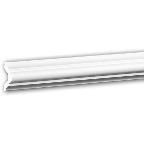 Cimaise 651308 Profhome Moulure décorative style Néo-Classicisme blanc 2 m