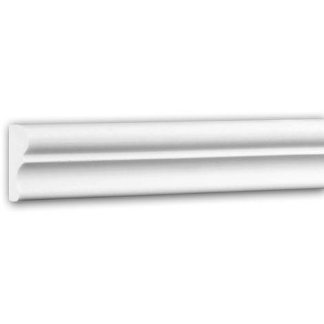 Cimaise 651321 Profhome Moulure décorative style Néo-Classicisme blanc 2 m
