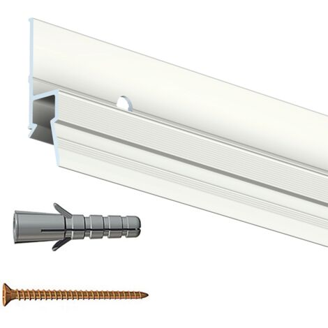 Cimaise Deco Rail 200 cm + vis & chevilles murs creux - creuxdur : creux