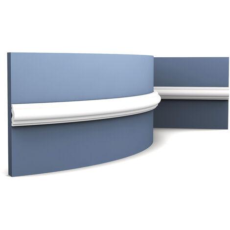 """main image of """"Cimaise flexible Corniche Moulure Décoration de stuc Orac Decor PX103F AXXENT Profil décoratif du mur 2 m"""""""