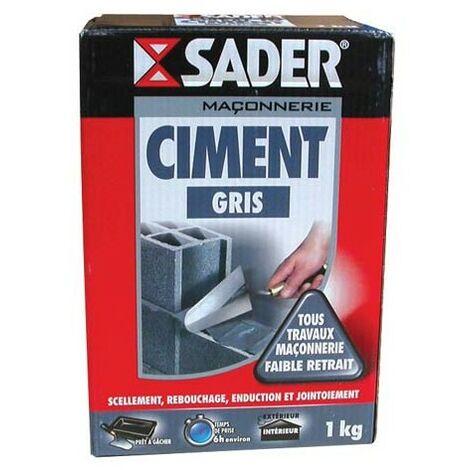 CIMENT GRIS 1KG SADER (Vendu par 1)