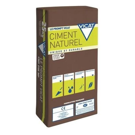 Ciment naturel Prompt VICAT Sac de 25kg | sac(s) de 0 - Sac de 25kg