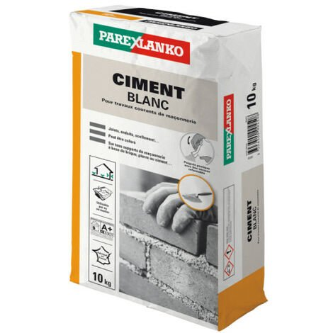 Ciment PAREXLANKO - Blanc - 10kg - 02836 - Blanc