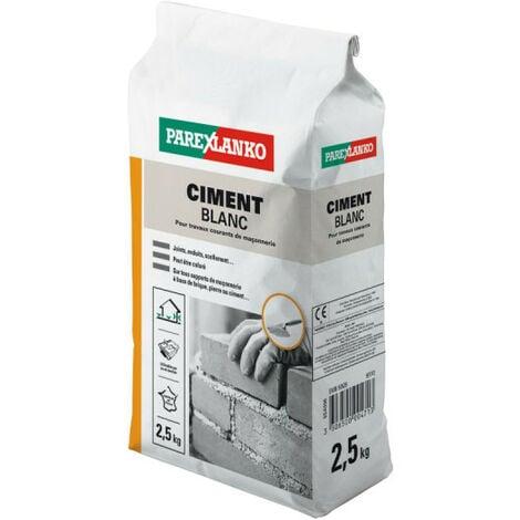 Ciment PAREXLANKO - Blanc - 2.5kg - 02869 - Blanc