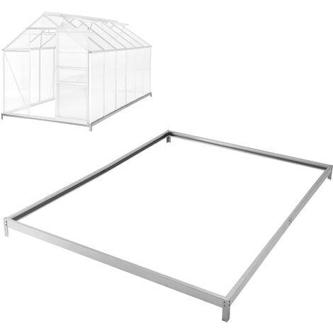 Cimientos para invernadero - base para invernadero de acero, esquinas con estacas para sujetar al suelo, base estable para anclaje al suelo