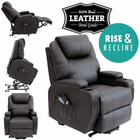 CINEMO RISEREC LEATHER RECLINER - different colors available