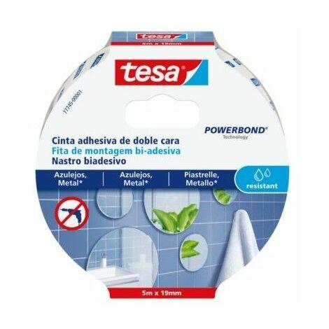 Cinta Adhesiva 19Mmx 5Mt Doble Cara Resistente Humedadtesa Powerbond Tesa