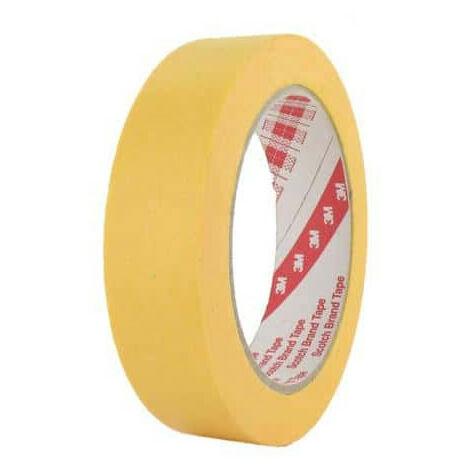 Cinta adhesiva 3M 244 25mm x 50m x 5 amarillo