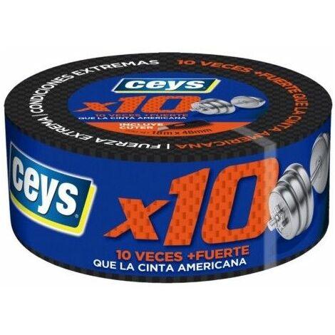 Cinta Adhesiva 48Mmx 18Mt Rep Tric Impermeable Tackceys X 10 Ceys