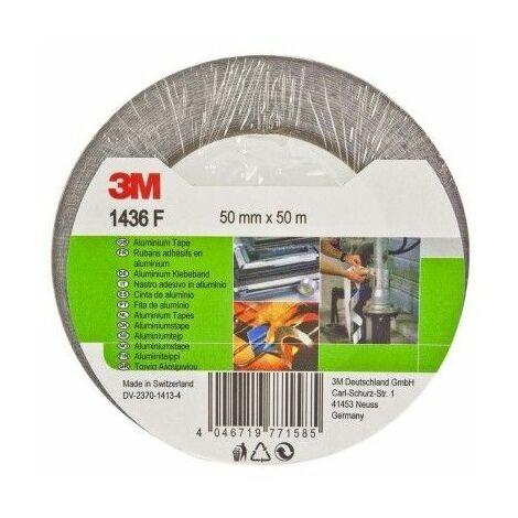 Cinta Adhesiva 50Mmx 50Mt Aluminio 3M
