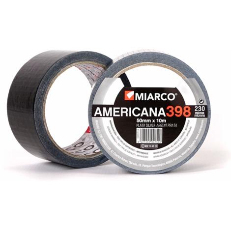 Cinta adhesiva americana 398 plata