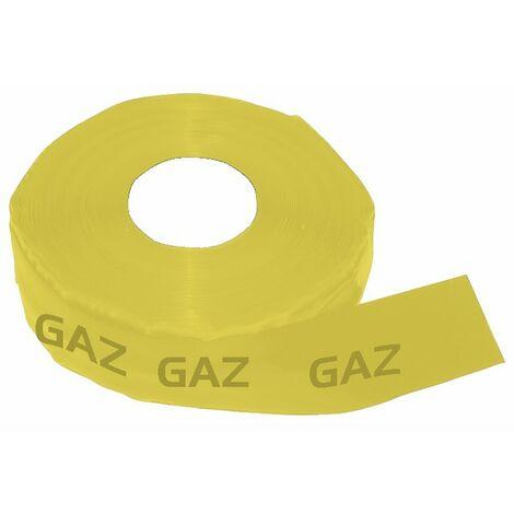 "Cinta Adhesiva - Cinta PVC adhesiva (AMARILO) marcado ""GAS"" 60M x 50mm - ADVANCE : 223091"