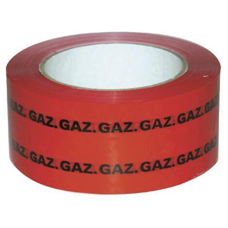 "Cinta Adhesiva - Cinta PVC adhesiva (rojo) marcado ""GAS"" 50mm x 100m - ADVANCE : 207190"