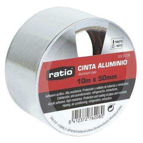 CINTA ADHESIVA DE ALUMINIO 50MMX10M