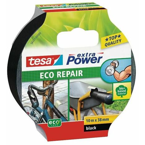 Cinta adhesiva de tejido Eco Repair Negra 10m x 38 mm Tesa