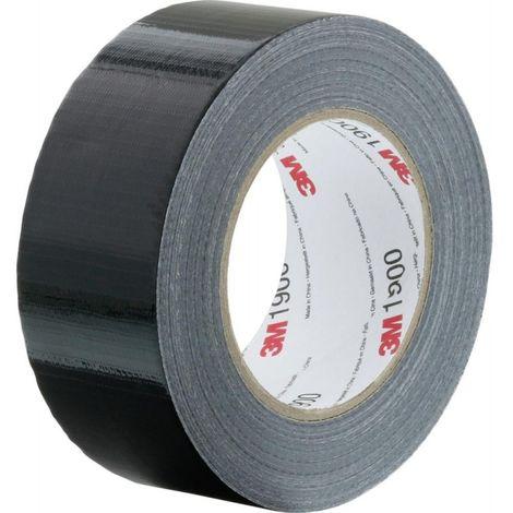 Cinta adhesiva de tela 1900 3M™ -50mm negro (Por 24)