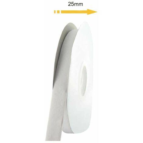 Cinta adhesiva de velcro con velcro 25mm x 25m - blanco