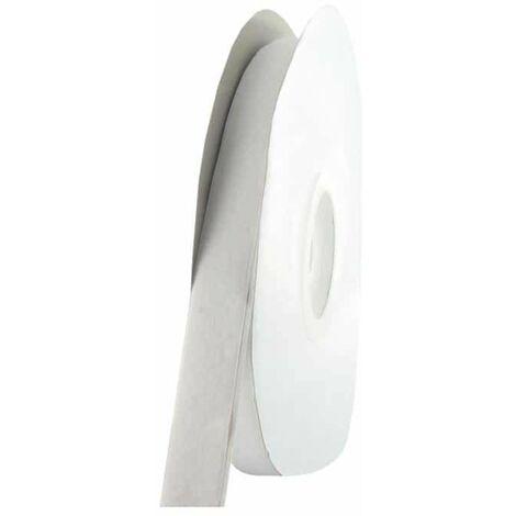 Cinta adhesiva de velcro de 25mm x 1m - blanca