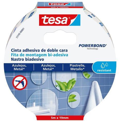 Cinta adhesiva doble cara Powerbond 5mx19mm humedad TESA