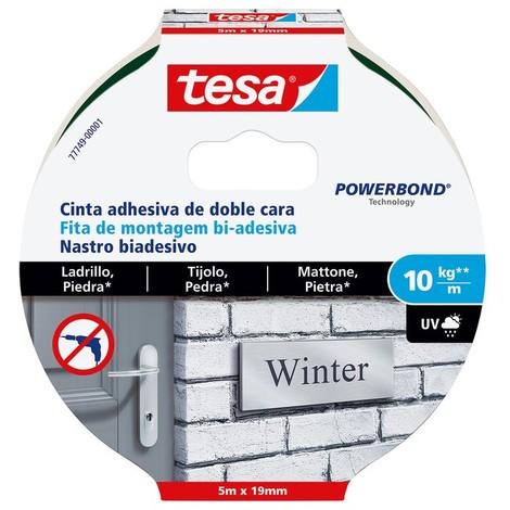 Cinta adhesiva doble cara Powerbond 5mx19mm ladrillos TESA