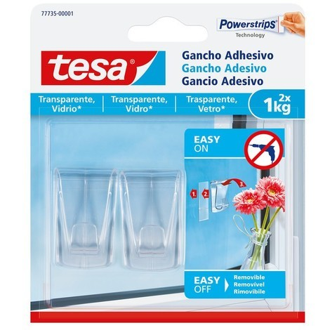 Cinta adhesiva doble cara transparente 5mx19mm vidrio 20kg/m TESA
