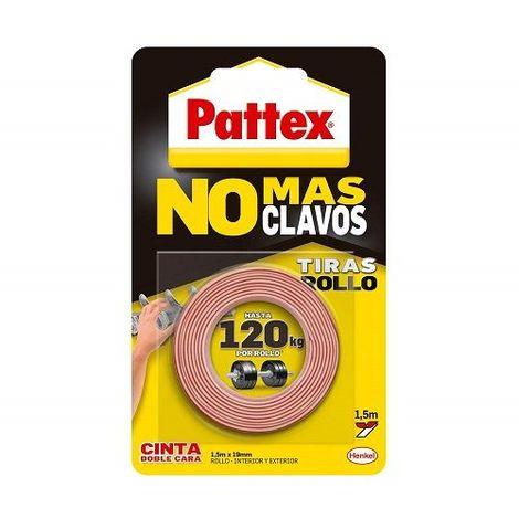 Cinta adhesiva dos caras Pattex No Mas Clavos 19 mm 1.5 M