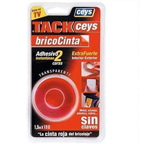 Cinta adhesiva dos caras Tack Ceys 19 mm 1.5 M