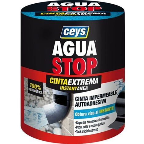 "main image of ""Cinta Adhesiva Fugas Y Grietas 100Mmx1,5Mt Negro Aguastop Impermeable Ceys 902809"""