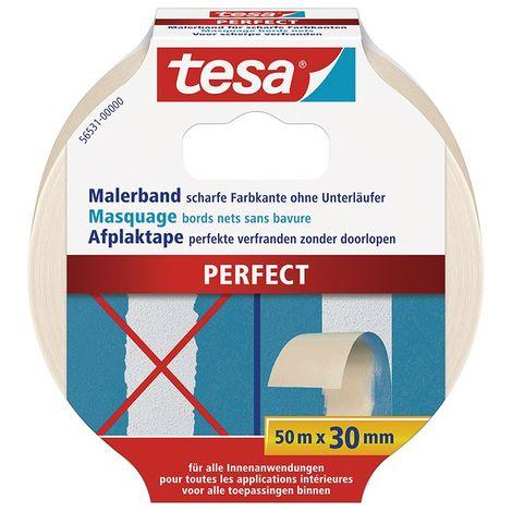 Cinta adhesivo de enmascaramiento para bordes filos, 50 M x 19 MM - Tesa 56532 Perfect (por 10)
