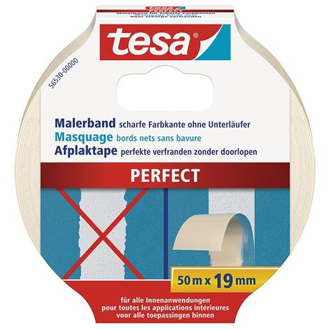 Cinta adhesivo de enmascaramiento para bordes filos, 50 M x 19 MM - tesa (por 16)
