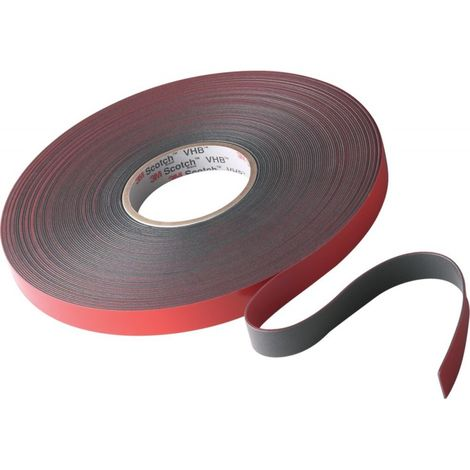 Cinta adhesivo doble cara 4611F 19mmx33mx1,1mm dkl-gris (por 4)