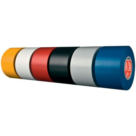 Cinta adhesivo PVC flexible, azul, 33 m x 25 mm - Tesa 04163-00042-92 Premium (por 6)