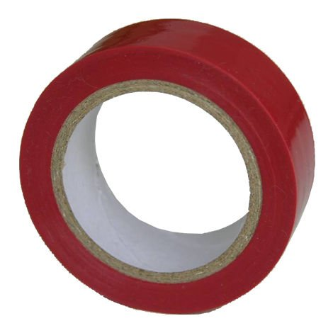 cinta aislante 19mmx10m rojo