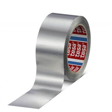 Cinta aluminio 75 micras sin liner aluminio 50 Metros x 25 mm 60670-00000-00 (48 unidades)