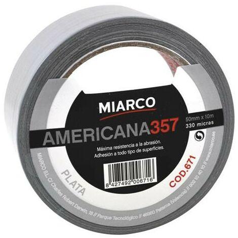 CINTA AMERICANA BLANCA 50X10 M.