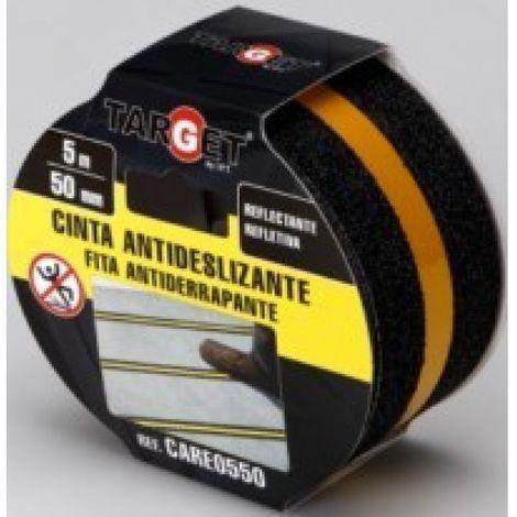 Cinta antidesl. 50mmx 5mt banda reflectante adh. neg target