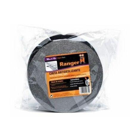 Cinta Antideslizante 38Mmx15Mt Adhesivo Negro Ranger