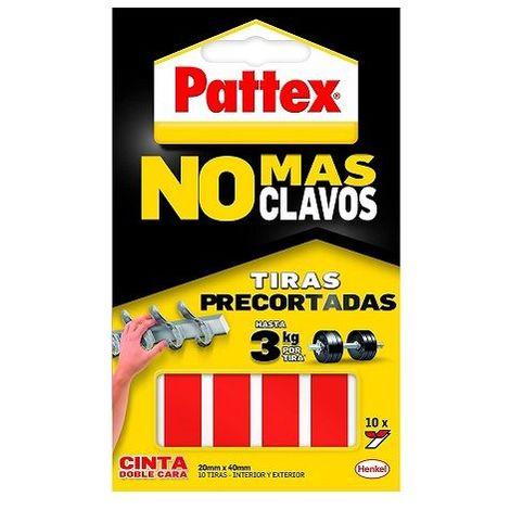 Cinta de doble cara a tiras Pattex (10 uds)