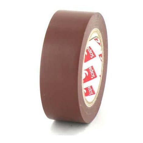 Cinta de 15 mm PVC Scapa eléctrica marrón 2702