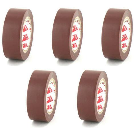 Cinta de 15 mm PVC Scapa eléctrica marrón 2702 x 5