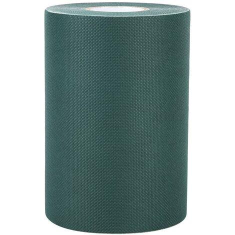 Cinta de coser de césped artificial 5Mx15CM Tela autoadhesiva que se une a la pegatina de jardín para sujetar césped sintético para tapetes de césped (verde)