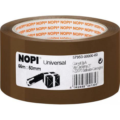 Cinta de embalaje universal 66m x50mm marrón (por 6)