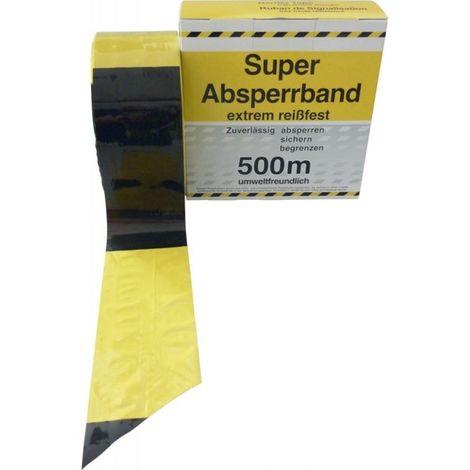 Cinta de señalización negro/amarillo 500 m-Rolle