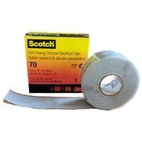 Cinta Eléctrica de Silicona Autosoldable Scotch 70 3M 25mm x 9m Gris