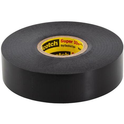 Cinta Eléctrica de Vinilo Scotch Super 33+ 3M 19mm x 20m Negro